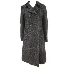 Manila Grace Blue Tweed Coat