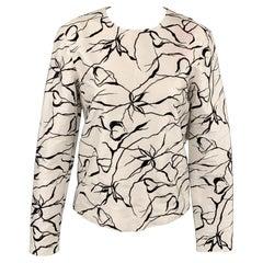 MANISH ARORA Size S White & Black Silk Dress Top