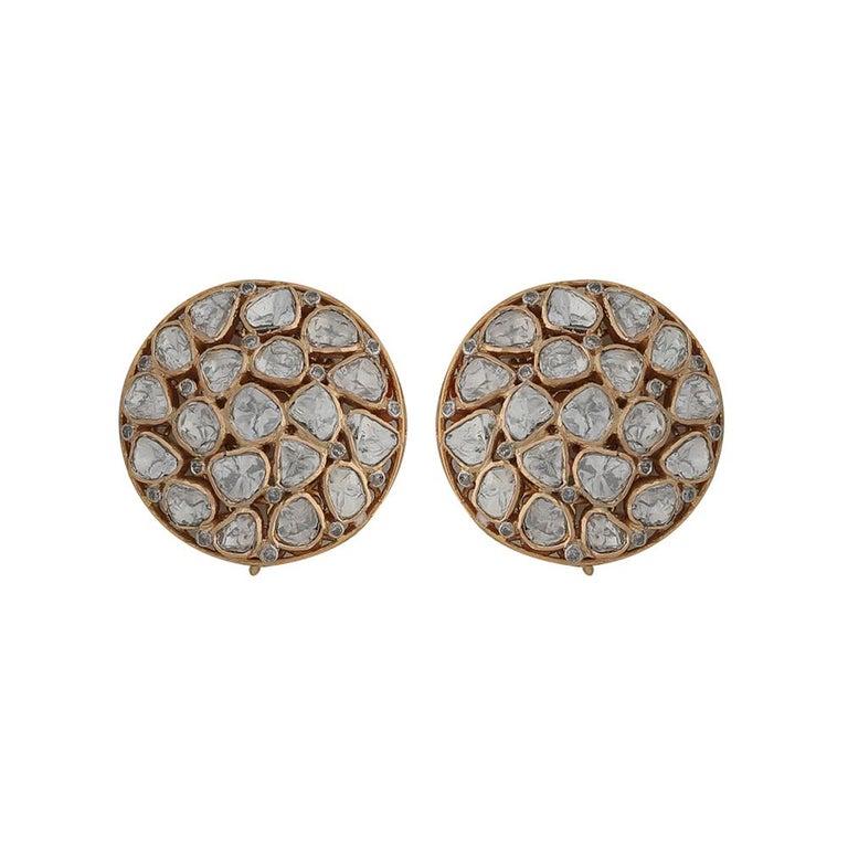 Women's Manjrie Baroque Pearl Uncut Diamond 18 Karat Gold Artisan Bracelet For Sale