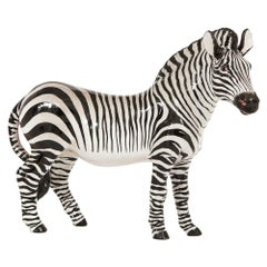 Manlio Trucco Zebra, Ceramic, Black and White, Signed