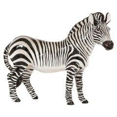 Manlio Trucco Zebra, Ceramic, Black, White, Signed