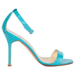 MANLO BLAHNIK turquoise patent leather CHAOS Sandals Shoes 38