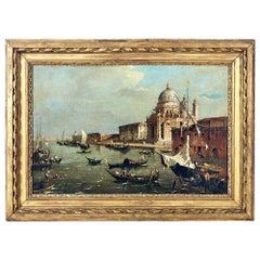 "Manner of Francesco Guardi ""The Grand Canal With Santa Maria Della Salute"""