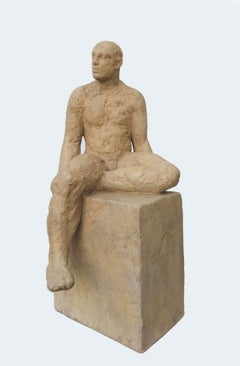 If You Should Be Silent - contemporary figurative jesmonite sculpture