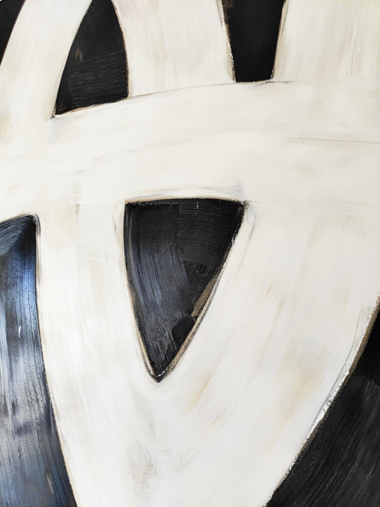 Manolo Ballesteros Large Oil Abstract Painting, Spain, 2007 In Good Condition For Sale In L'Escala, ES