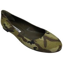Manolo Blahnik Camouflage Ballet Flats-40