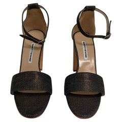 MANOLO BLAHNIK  denim sandal