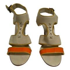 Manolo Blahnik multi color sandal