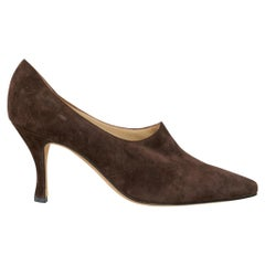 Manolo Blahnik Shoe Brown Suede Vintage Pump 36.5 / 6.5