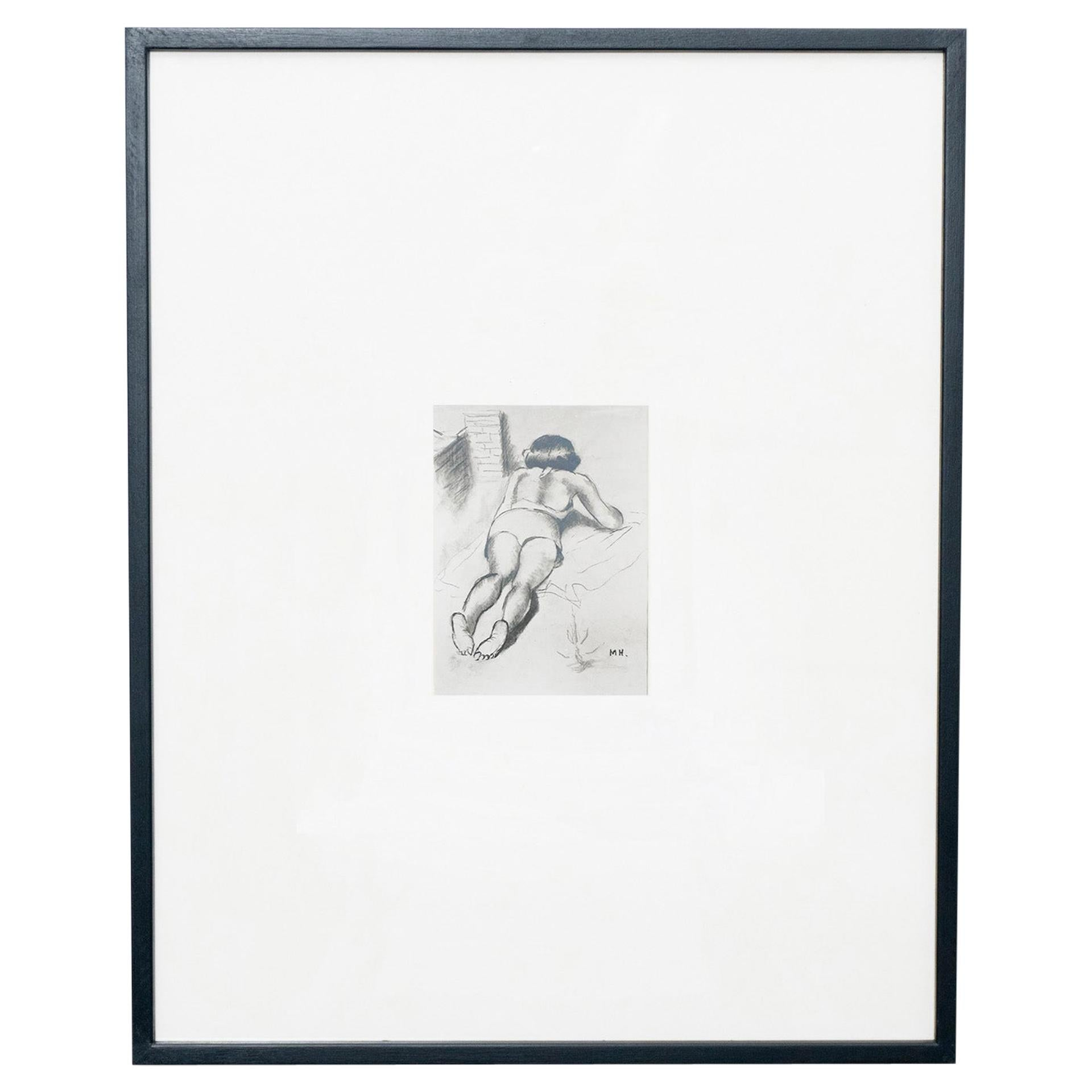 Manolo Hugue Archive Photography of Drawings, circa 1960