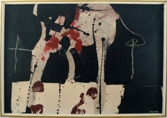 """""""Untitled, 1963"""", 20th Century Mixed Media by Spanish Artist Manolo Millares"""