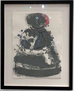 Reine Mariana - Established artist Manolo Valdes - Etching with unique collage