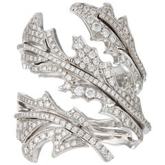 Manpriya B Diamond and White Gold Arabesque Ring