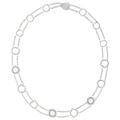 Manpriya B Slice, Rose Cut, White Diamond in 18K Gold Collar Chain Necklace