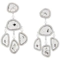 Manpriya B Slice Diamond Girandole Diva Earrings in 18karat White Gold