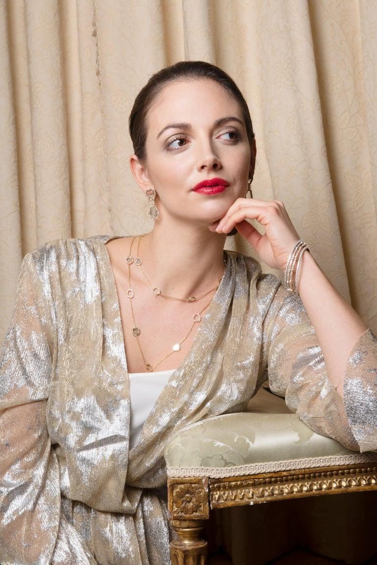 Modern Slice Diamond, Ruby, Coloured Sapphires & Tsavorite Diva Necklace Manpriya B For Sale