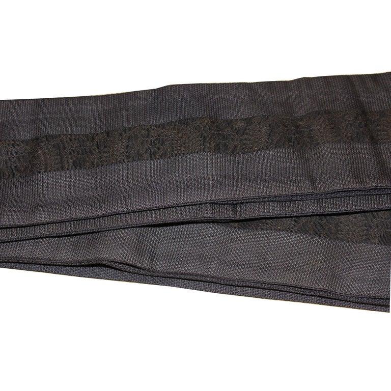 Man's Black Silk Obi In Good Condition For Sale In San Francisco, CA