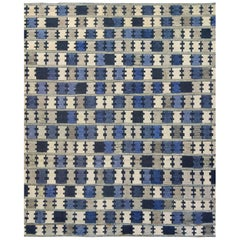 Mansour Modern Swedish Style Handwoven Wool Rug