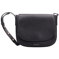Mansur Gavriel Black Leather Crossbody Bag