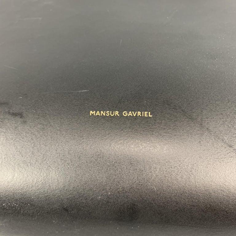 MANSUR GAVRIEL Black Leather Red Interior Tote Bag For Sale 6