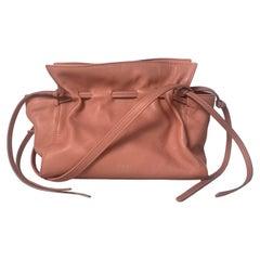 Mansur Gavriel Blush Pink Leather Mini Drawstring Protea Crossbody Bag rt. $595