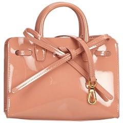 Mansur Gavriel Pink Patent Leather Sun Bag