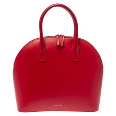 Mansur Gavriel Red Leather Dome Satchel