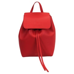 Mansur Gavriel Red Leather Mini Backpack