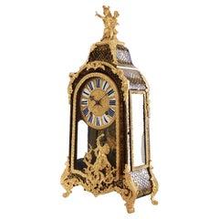 Mantel Clock 18th Century Styl Boulle by Josue Panier À Paris