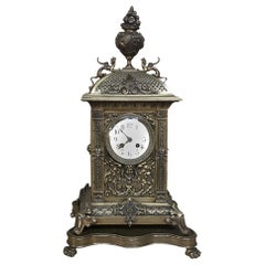 Mantel Clock, 19th Century French Louis XVI in Bronze