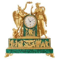 Mantel Clock 19th Century Louis Philippe Charles X by Prevost Freres a Toulose
