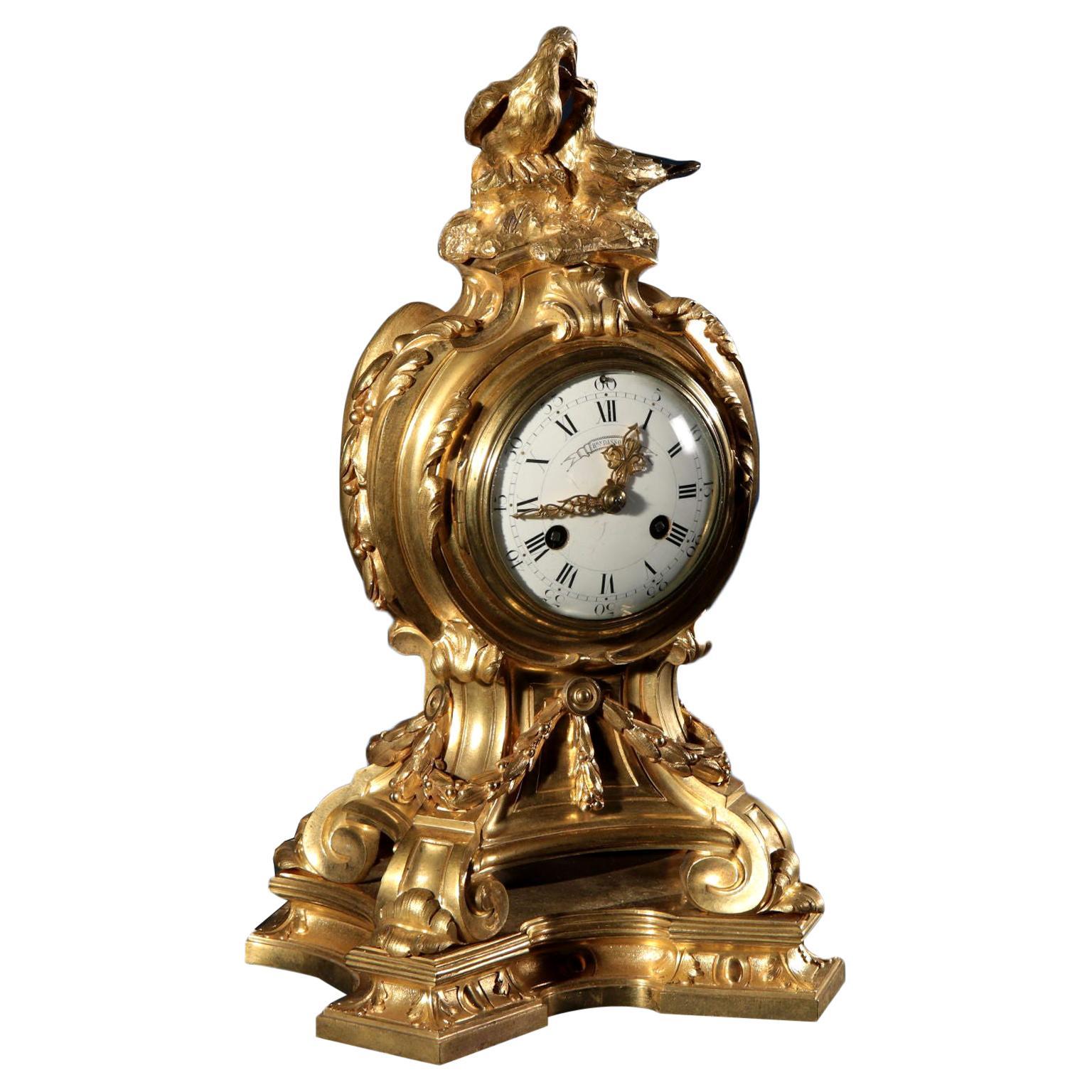 Mantel Clock by Henry Dasson