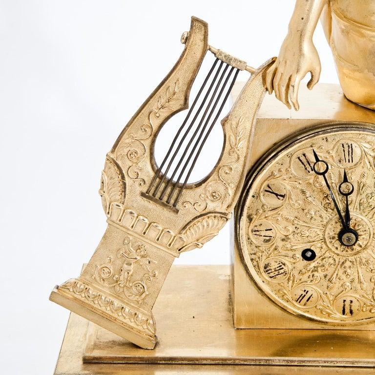 Empire Mantel Clock, France First Quarter of the 19th Century For Sale
