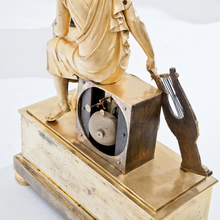 French Mantel Clock, France First Quarter of the 19th Century For Sale