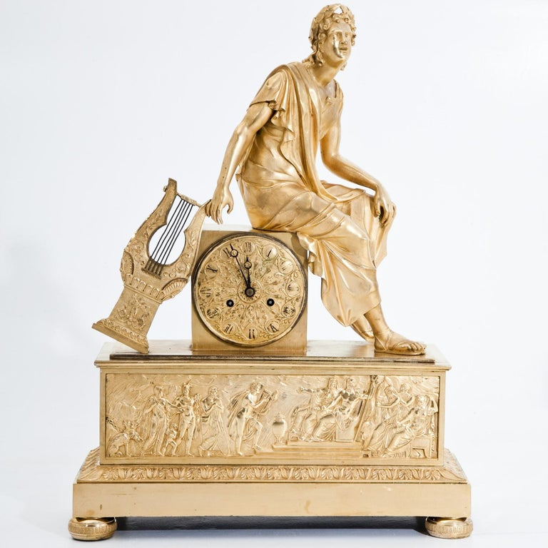 Mantel Clock, France First Quarter of the 19th Century For Sale 2