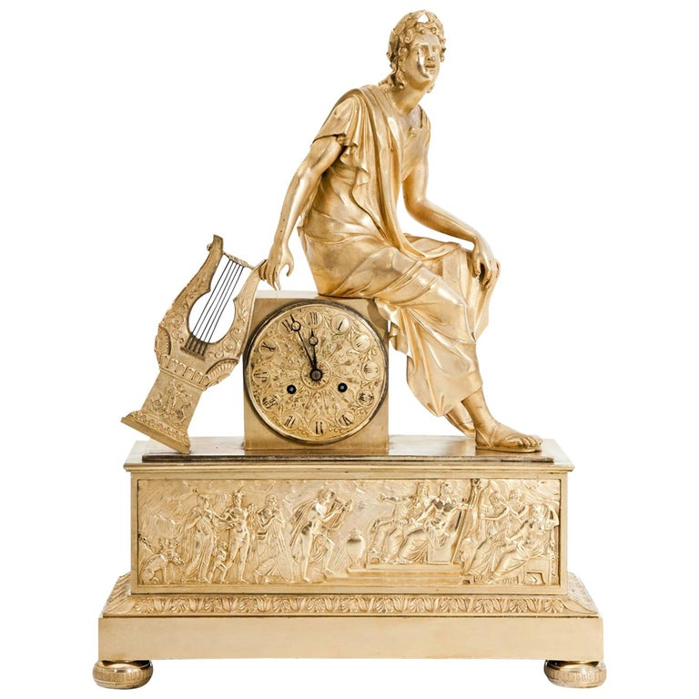Mantel Clock, France First Quarter of the 19th Century For Sale