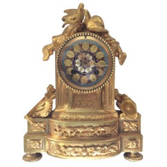 Mantel Clock Gilt Bronze