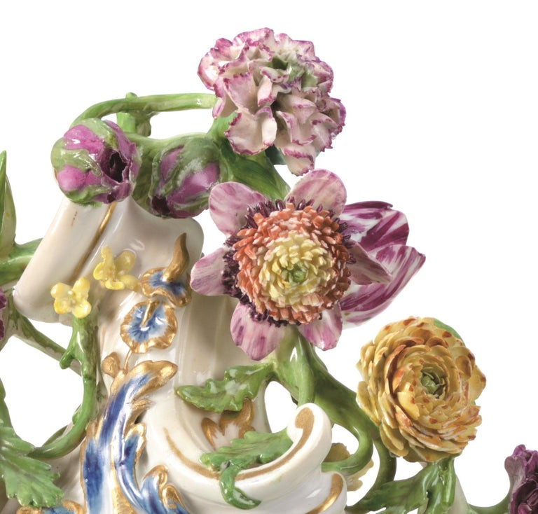 Mantel Clock Meissen Hard, Paste Porcelain, 1745-1755 In Good Condition For Sale In Lantau, HK