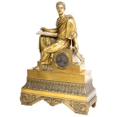 "Mantel Clock ""Philosopher"", Restoration Period France, Movement Dated 1823"
