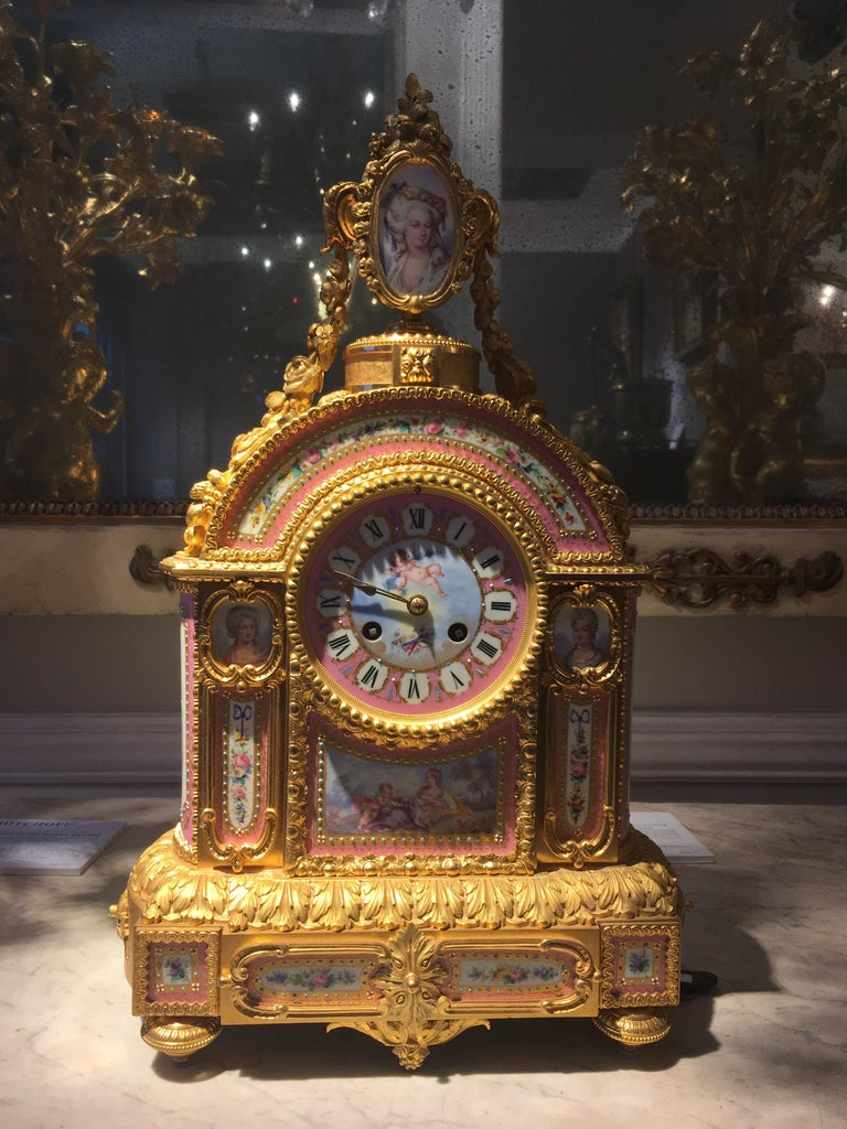 19th Century Mantelpiece Clock in the Louis XVI Manner, Retailed by E & S Watson of London For Sale