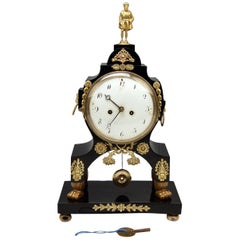 Mantle Mantel Table Chiming Clock Paws Feet Empire, Austria, Vienna
