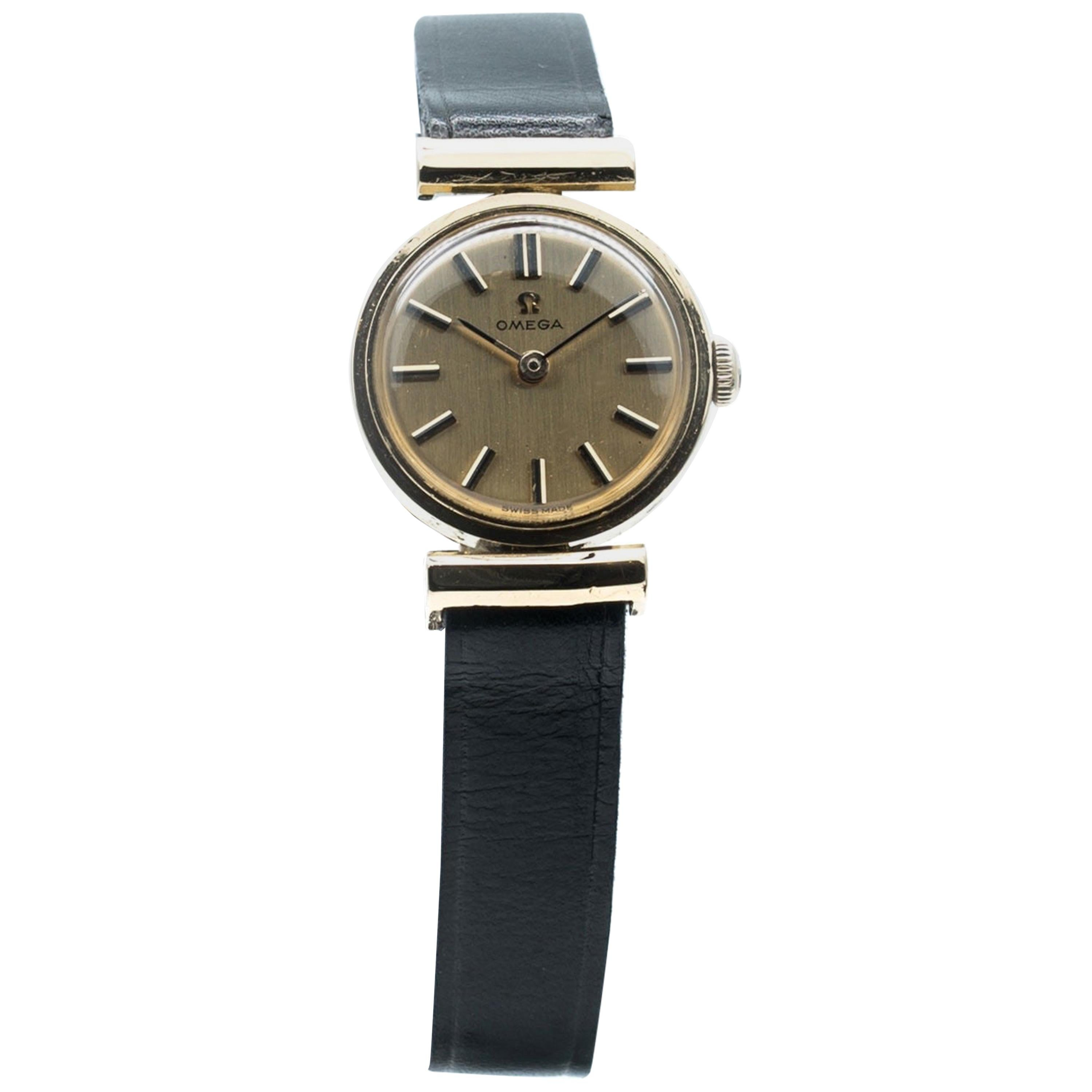 Manual Ladies Omega Gold Watch, circa 1960, Swiss Made, Valuated
