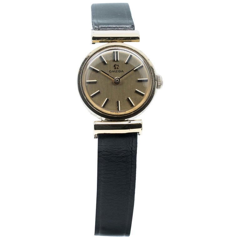 Manual Ladies Omega Gold Watch, circa 1960, Swiss Made, Valuated For Sale