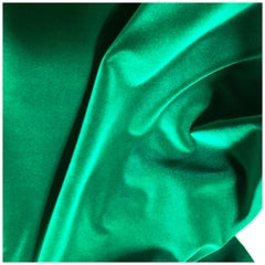 Manuel Canovas Emeraude Cotton Velvet Rivoli, Emerald Green, Jewel Tone Textile