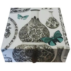 Manuel Canovas Fabric Decorative Storage Box for Scarves Handmade in France