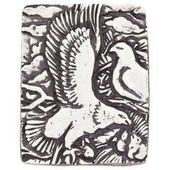Manuel Carbonell 925 Sterling Silver Bald Eagle Pendant Brooch Cuban Artist