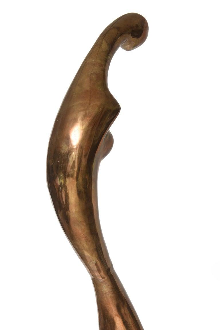 Manuel Carbonell Limited Edition Simple Form Figure Bronze Sculpture, circa 1976 For Sale 1