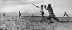 MANUEL CARRILLO, Untitled, c.1960's, Mexico (boys playing baseball on beach)