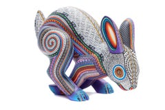 Conejo Contento - Happy Rabbit - Mexican Folk Art  Cactus Fine Art