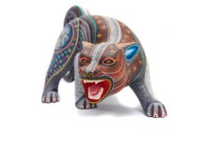 Jaguar Zapoteco - Zapotec Jaguar - Mexican Folk Art  Cactus Fine Art